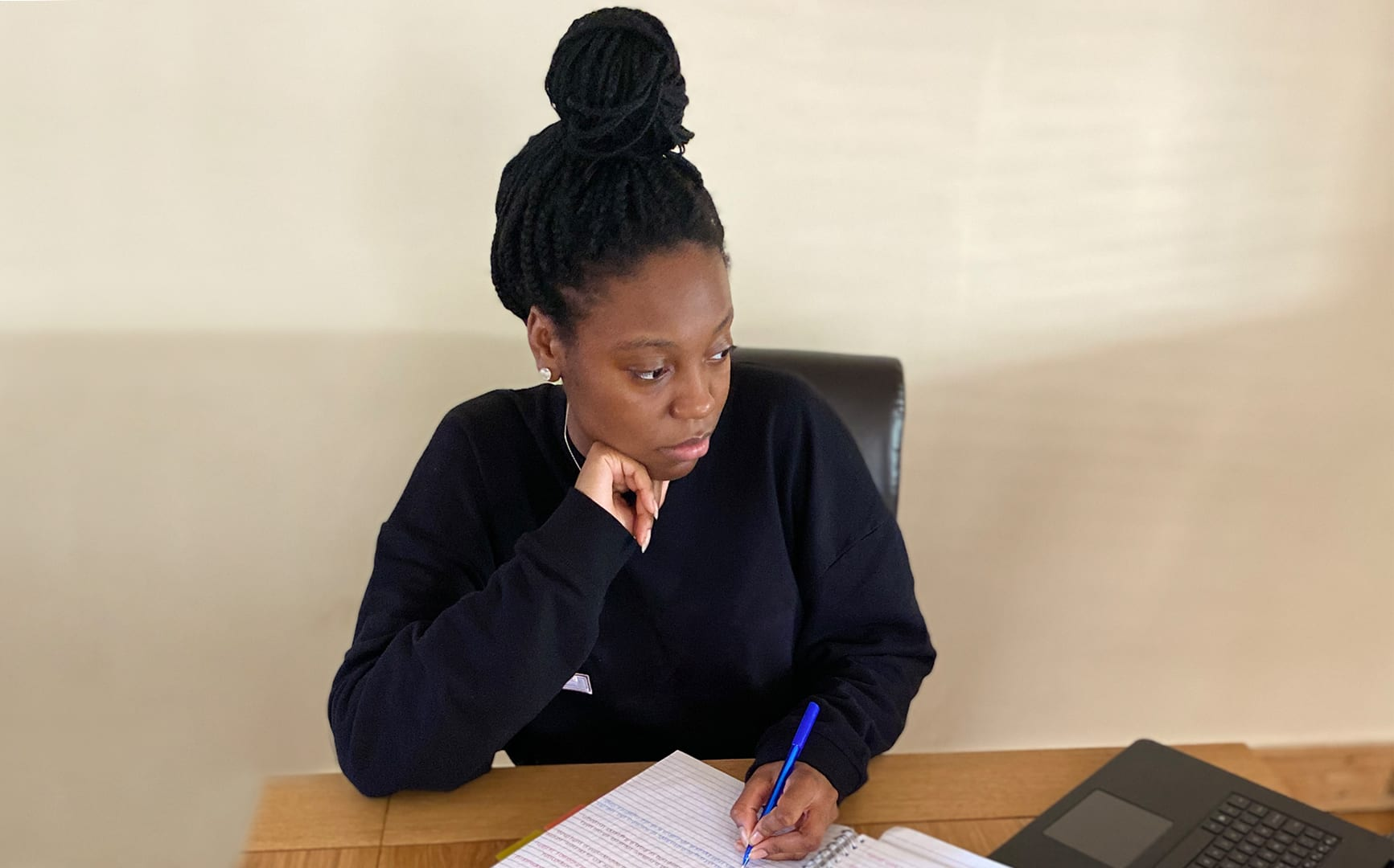 A Level student Esther